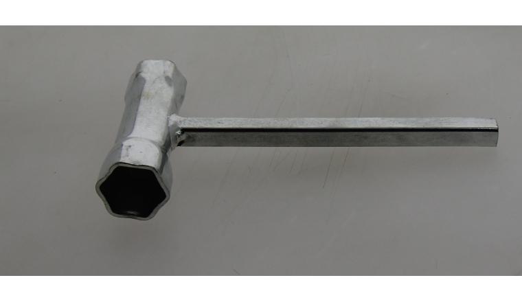 Clé à bougie 19x21mm avec carré de vidange mâle de 9,5mm