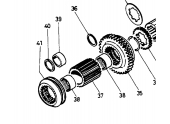 Disque crantée de boite de vitesse pour tracteur Case - 787087R1 - Case