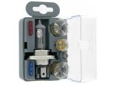 Coffret ampoule H4 - 12V de secours (5 lampes + 2 fusibles)