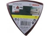 Bosch 2607019500 - Lot de 25 abrasifs delta - Grain 60/120/240