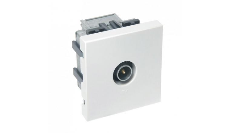 Mécanisme Prise TV blanc brillant CASUAL - Debflex 742184