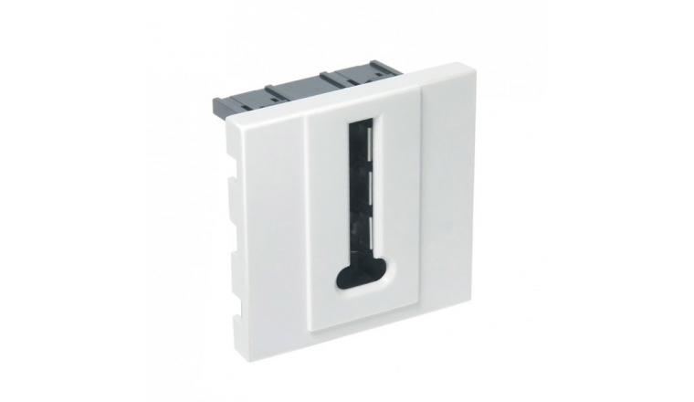 Mécanisme Prise téléphone blanc brillant CASUAL - Debflex 742194