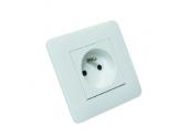 Prise 2P+T Casual Blanc Brillant complète - Debflex 742700