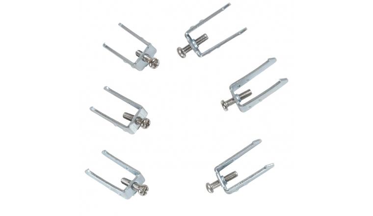 Lot de 6 griffes + vis pour support CASUAL - Debflex 742010