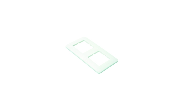 Plaque de finition double blanc brillant CASUAL - Debflex 742002