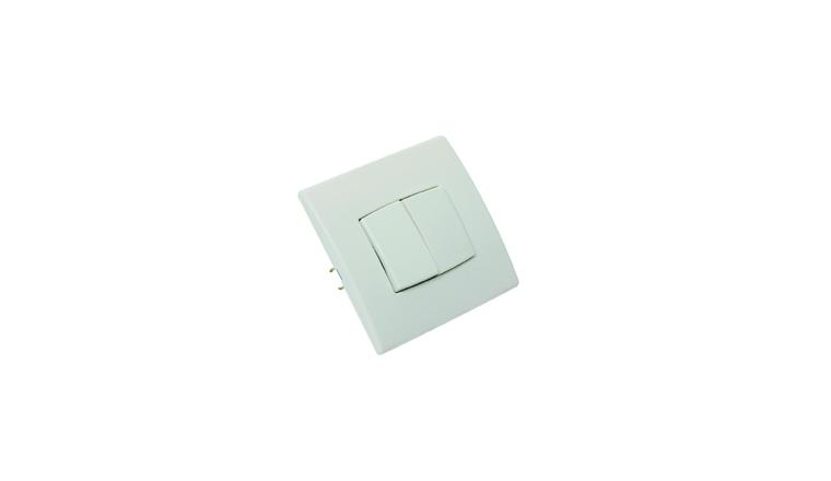 Interrupteur double va-et-vient encastrable PERFECT - Debflex 737150