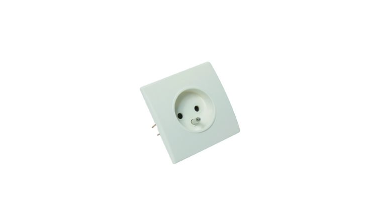 Prise 2P+T encastrable blanc PERFECT - Debflex 737120