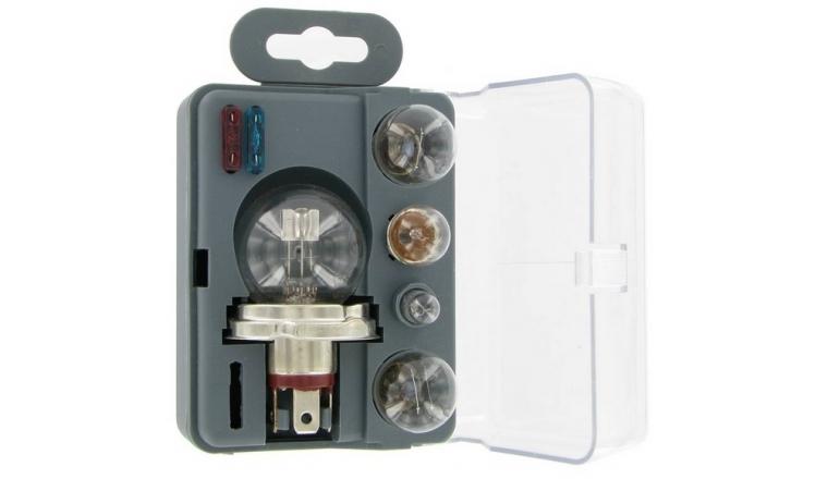 Coffret de secours CE 12V 5 ampoules / 2 fusibles