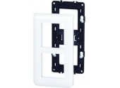 Plaque verticale + Support 2x2 modules - Legrand Mosaic 99673