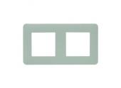 Plaque de finition double beige mat - Debflex Casual 742052