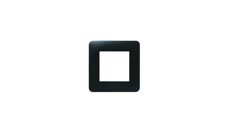 Plaque de finition simple noir mat - Debflex Casual 742071