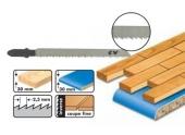 Lot de 5 lames scie sauteuse bois - 75 mm