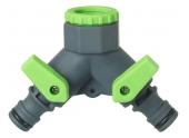 Nez de robinet avec sélecteur 2 circuits 15x21 - 1/2