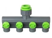Nez de robinet avec sélecteur 4 circuits 15x21 / 20x27 / 26x34