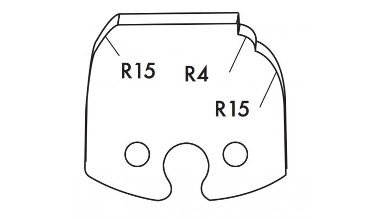 Jeu de 2 fers 50mm TF501252 Le Ravageur pour Porte-Outils