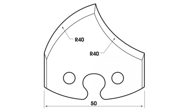 Jeu de 2 fers 50mm TF501209 Le Ravageur pour porte-outils
