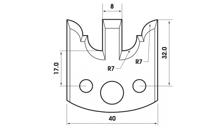 Jeu de 2 fers 40mm TF401098 Le Ravageur pour porte outils