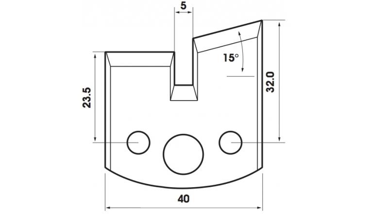 Jeu de 2 fers 40mm TF401085 Le Ravageur pour porte outils
