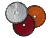 Catadioptre rond réfléchissant Ø60 - blanc, orange, rouge - fixation par trou