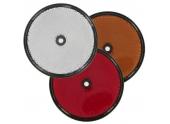 Catadioptre rond réfléchissant Ø80 - blanc, orange, rouge