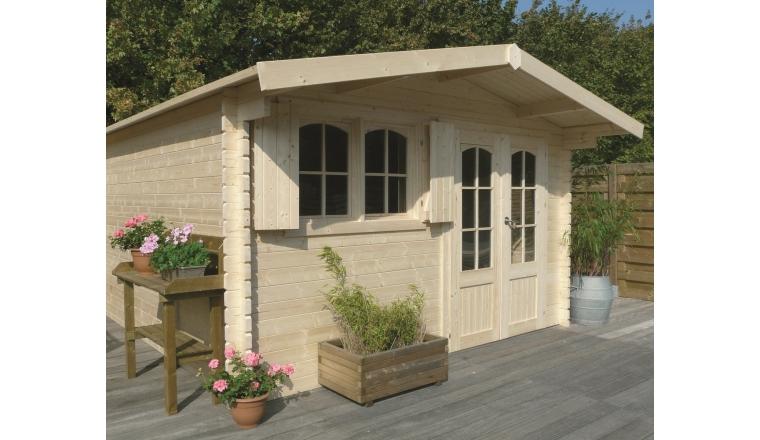 abri de jardin en bois 40 mm m solid s8969. Black Bedroom Furniture Sets. Home Design Ideas