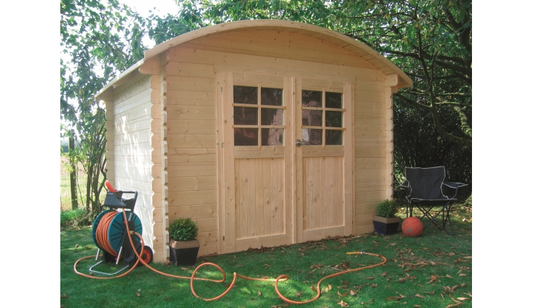 Abri de jardin en bois dainville solid m s844 for Abri de jardin traite autoclave