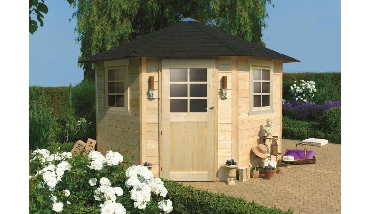 Abri de jardin en bois nancy solid m s8205 for Abri de jardin brico