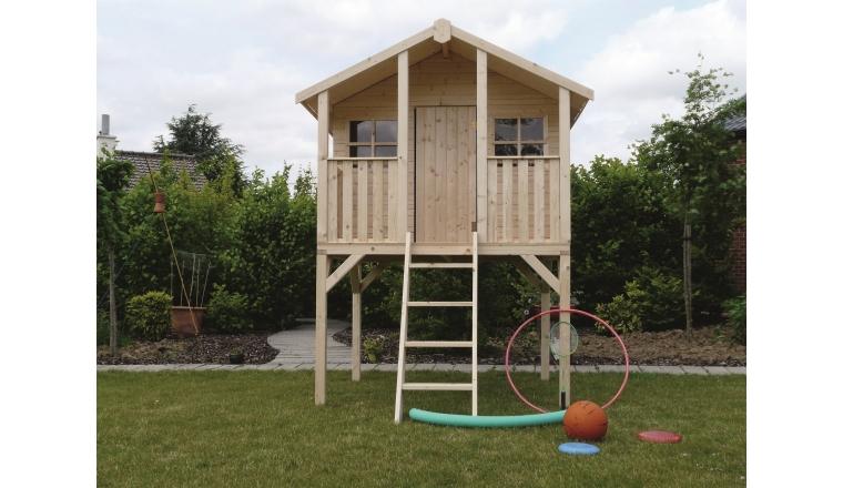 Abri de jardin en bois playhouse solid m s8405 for Brico abris de jardin