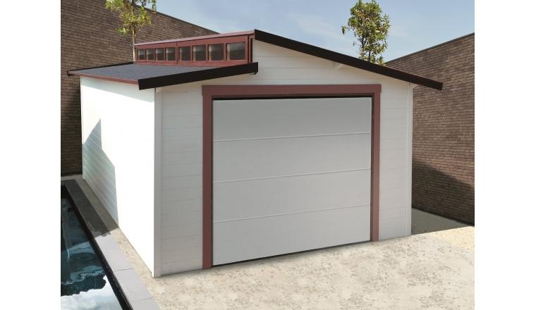 Garage en bois torino solid m avec porte for Garage en bois avec porte sectionnelle