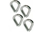 Lot de 4 Cosses coeur diamètre 4 mm Acier Zingué Vigouroux