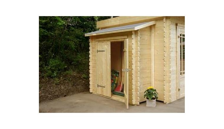 Armoire adoss e double porte en bois solid s8756 for Double porte en bois