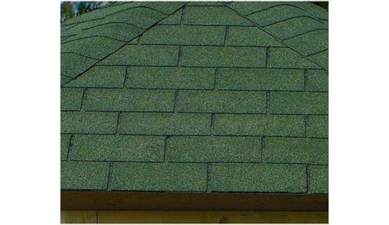 Revêtement de toit Shingles Vert Solid 24 m² 8X-S575