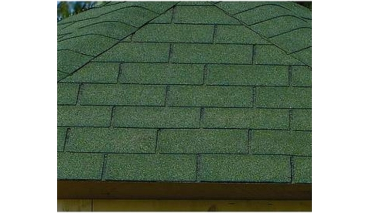 Revêtement de toit Shingles Vert Solid 39 m² 13X-S575