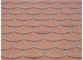 Revêtement de toit Shingles Rouge Solid 12 m² 4X-S579