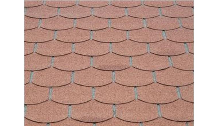 Revêtement de toit Shingles Rouge Solid 18 m² 6X-S579