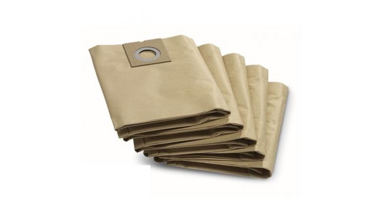 Lot de 5 sacs d\'aspirateur Papier 6.904-290 KARCHER