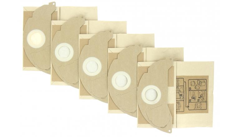 Lot de 5 Sacs d\'aspirateur papier 6.904-322.0 KARCHER