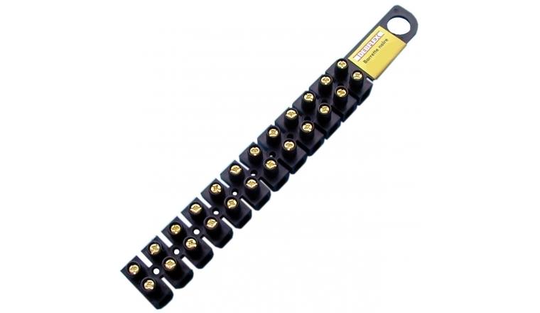 Barrette de connexion 25mm² - 101A - 12 plots - Noire - DEBFLEX