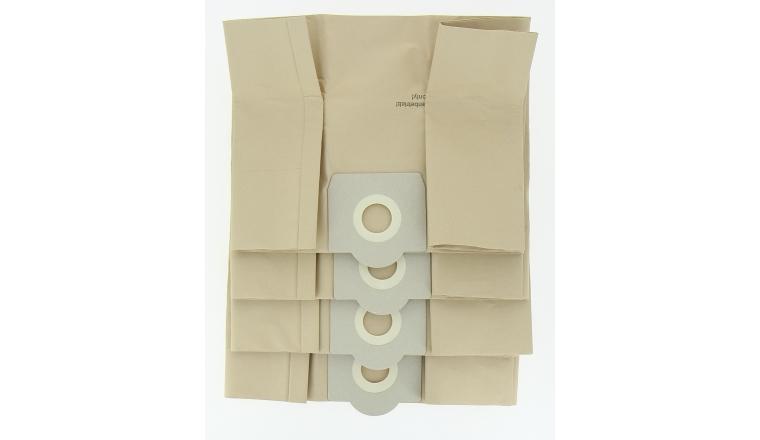 Lot de 4 sacs d\'aspirateur papier pour aspirateur eau et poussière
