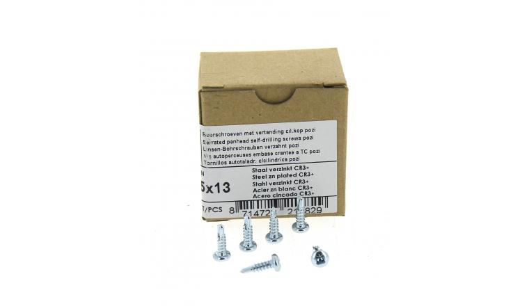 Boîte de 200 Vis à tête cylindrique Pozidriv Ø 3.5 x 13 mm