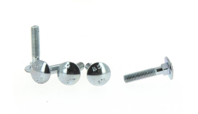 Boîte de 500 Boulons Tête Ronde Collet Carré Ø 5 de 16 à 20 mm