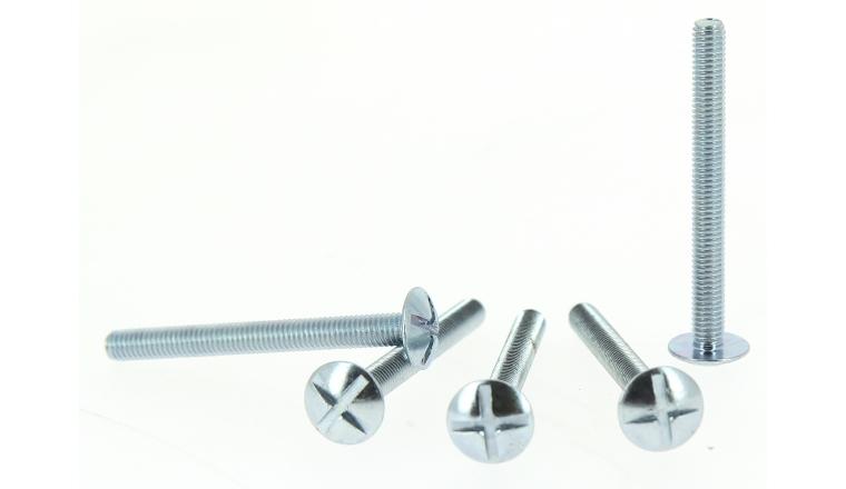Boîte de 500 Vis de Poêlier tête ronde plate Ø 4 de 25 à 30 mm ROCKET