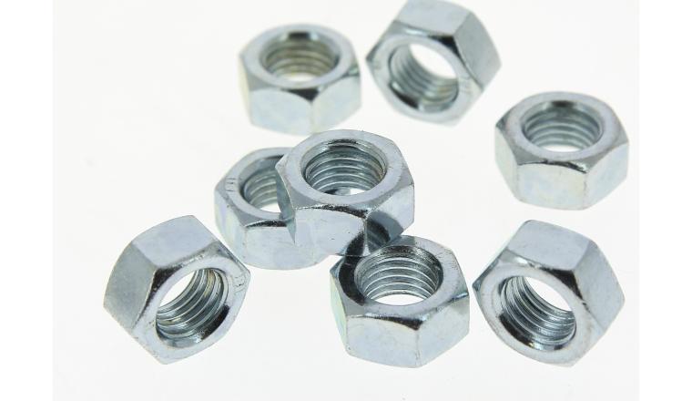 Lot de 13 Ecrous Hexagonaux Ø 10 mm Acier Zingué ROCKET