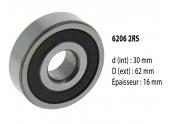 Roulement à billes 6206 2RS - 30X62X16 mm