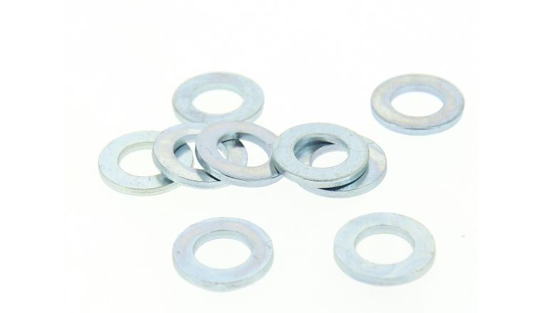 Boîte de 100 Rondelles Plates Etroites Ø 12 mm Acier Zingué
