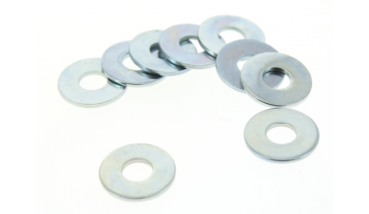 Boîte de 100 Rondelles Plates Larges Ø 18 mm Acier Zingué
