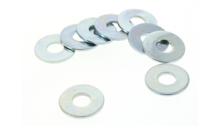Boîte de 100 Rondelles Plates Larges Ø 14 mm Acier Zingué