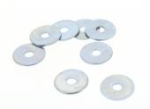 Boîte de 200 Rondelles Plates Extra-Larges Ø 6 mm Acier Zingué