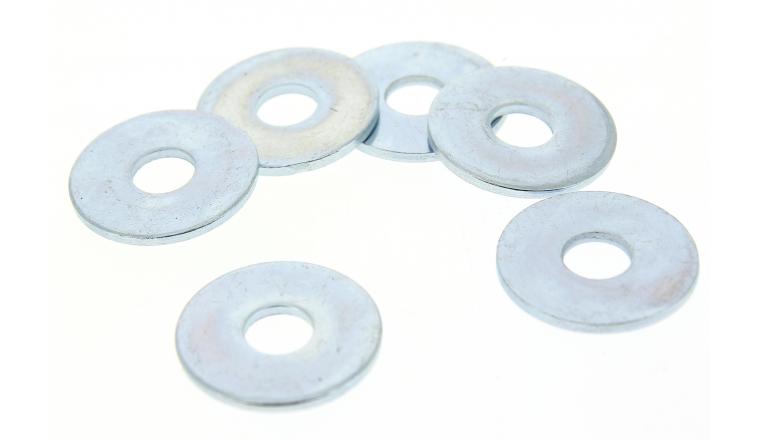 Boîte de 100 Rondelles Plates Extra-Larges Ø 12 mm Acier Zingué