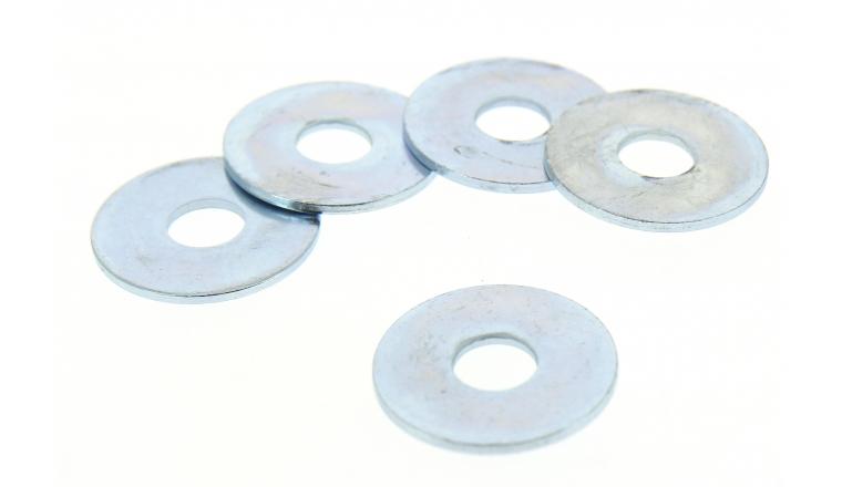 Lot de 6 Rondelles Larges Extra-Larges Ø 14 mm Acier Zingué ROCKET